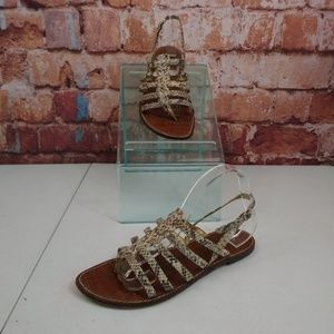 Sam Edelman Snake Print Sandals Size 10